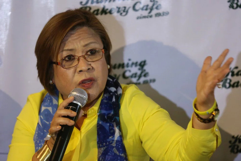 De Lima condemns Duterte's 'shoot on sight' order