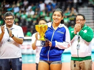 Ateneo's Alyssa Valdez gets third MVP trophy