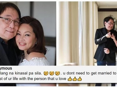 Never too late! Netizens react to Joey de Leon and Eileen Macapagal's wedding