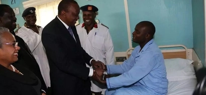 PHOTOS: Opposition Chiefs  Join Uhuru In Visiting KDF Survivors In Hospital
