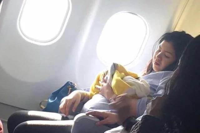 Filipina first time mom gave birth inside a Cebu Pacific plane