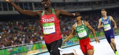 King David Rudisha wins gold for Kenya, writes history