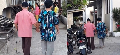 This sweet elderly couple holding hands while walking proves that forever does exist!