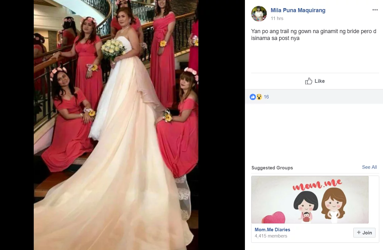 Nagsagutan na sila! Designer of the viral wedding gown airs her side of the story in the hopes of clearing her name