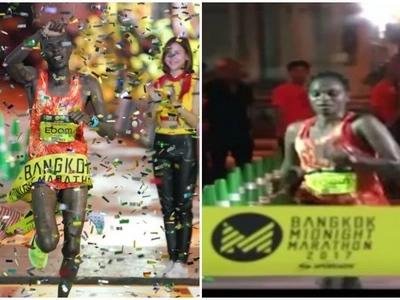 Congrats! Kenyans win men and women's races at inaugural Bangkok Midnight Marathon (photos, video)