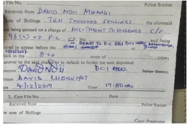 The trivial amount of money David Ndii paid for his freedom
