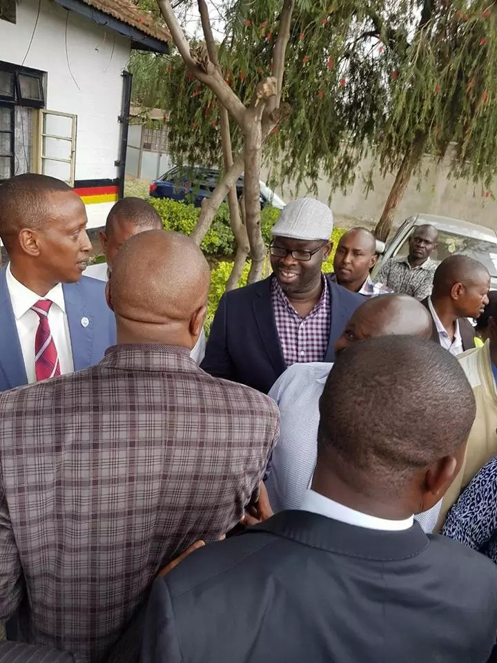 These photos of NASA leaders comforting Moses Kuria will make supporters look silly!