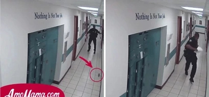 Policía corre por su vida al ver una rata