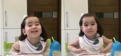 Scarlet Snow will make you laugh with her answer when daddy Hayden spoke to her in Chinese