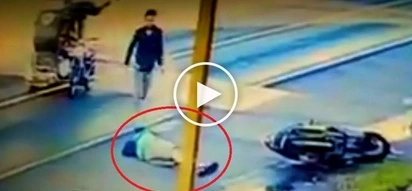 Pinoy motorcycle rider suffers violent seizure attack after brutally colliding with tricycle