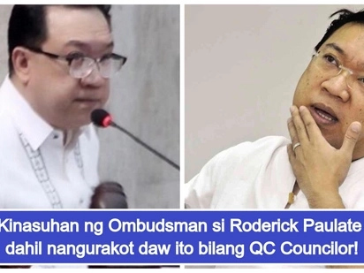 Nangurakot daw! Roderick Paulate, kinasuhan ng graft at falsification bilang Quezon City Councilor
