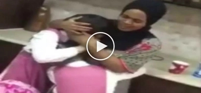 Mapagmahal na amo: 2 Affectionate Arab girls cry hard while saying goodbye to their beloved Pinay maid