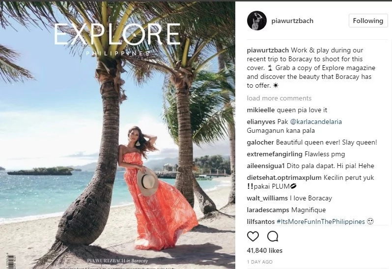 Look How Our Miss Universe 2015 Pia Alonzo Wurtzbach Enjoyed the Island of Boracay