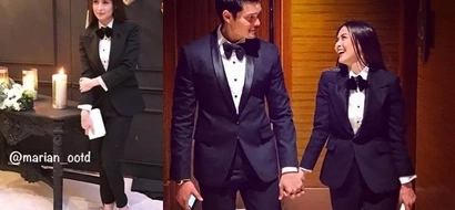 Who wore it best? Marian Rivera graces Gabby Garcia's debut in an alluring tuxedo
