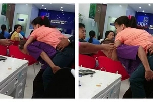 Touching! Dedicated mother, 69, CARRIES her disabled daughter, 30, on her back whenever they go out (photos, video)