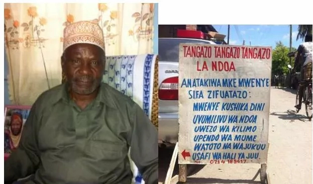 75-year old widower advertises for a wife, the qualifications will make you laugh SENSELESSLY