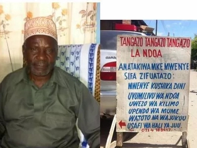 SHOCKING advertisment of a 75-year-old man and father to 11 looking for a wife