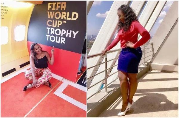 Betty Kyalo amshambulia vikali mfuasi wake aliyemshtumu kwa nafasi yake kwa wale wanao wanaotembeza kombe la dunia nchini