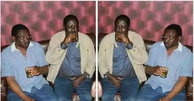 Picha ya Raila na Orengo WAKIBUGIA kileo yasambaa kwa kasi mno mtandaoni