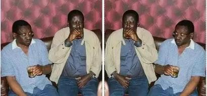 Raila hunywa POMBE? Tazama hii picha inayosambaa mtandaoni
