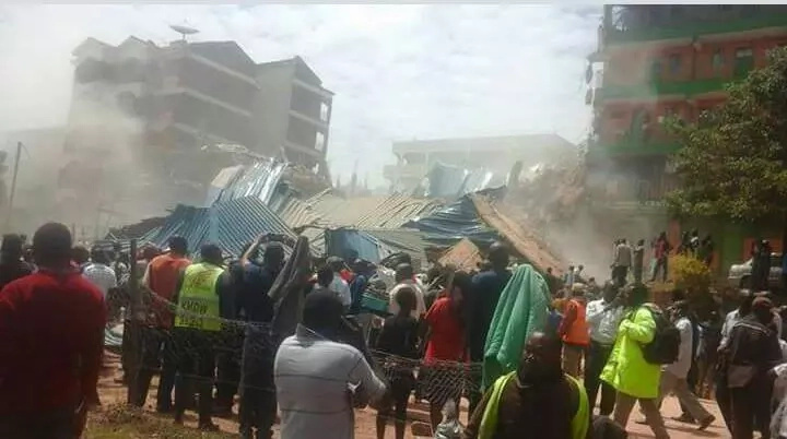 KDF to rescue people trapped in collapsed building