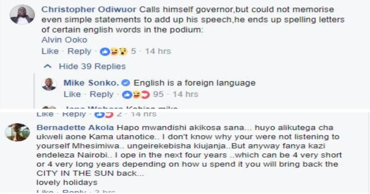 Sonko makes a major blunder in Jamhuri Day speech and netizens are unforgiving after noticing