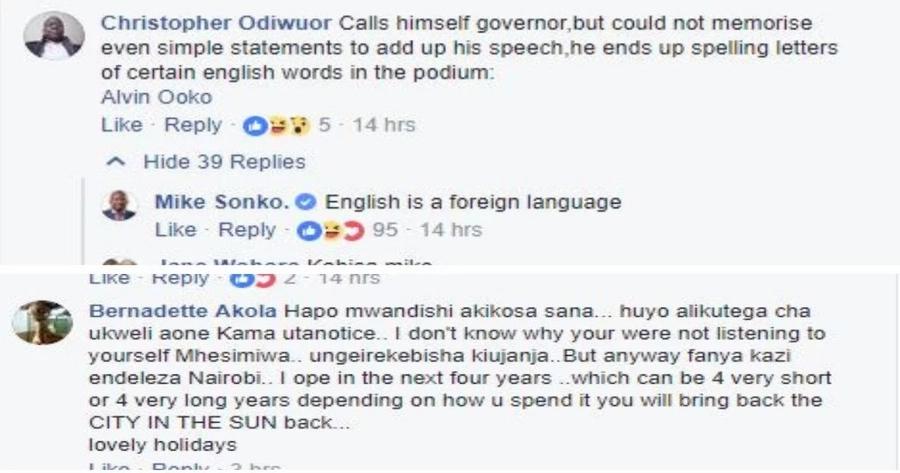 Kiingereza kibovu cha Sonko chamkosea heshima Rais Uhuru Siku ya Jamhuri