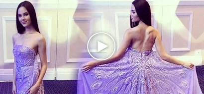 Catriona Gray stuns in a Francis Libiran gown and she's so darn perfect