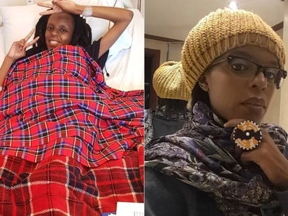 Njambi Koikai discharged from hospital following delicate life saving procedure,headed to US for further treatment