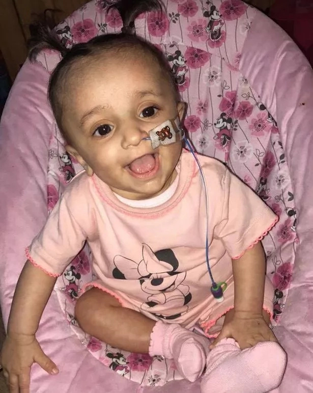 Inaaya's condition means she has to be fed through a tube