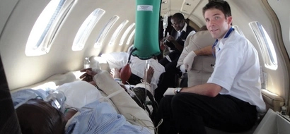 Here is the special plane that flew Mwai Kibaki to S.Africa for treatment (photos)