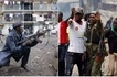 Police officer steals the show during violent protests in Mathare (photo)