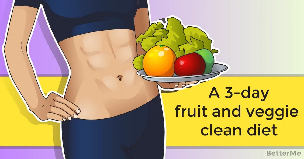A 3-day fruit and veggie clean diet