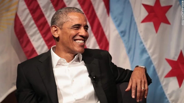 Obama looked relaxed and in good humor