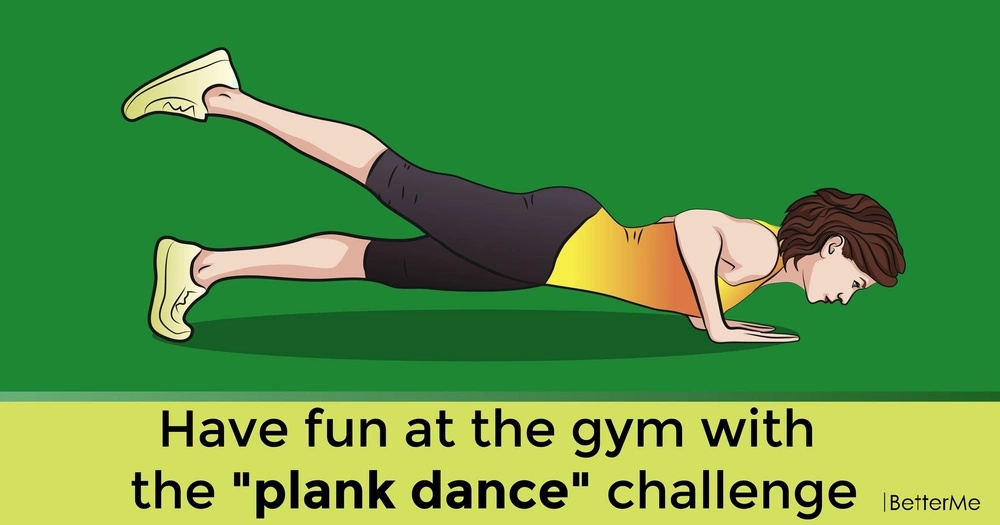 "Have fun at the gym with the ""plank dance"" challenge"
