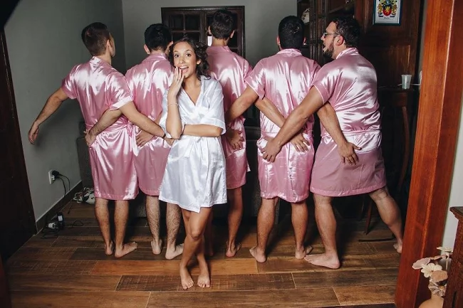"Bride's Own Brothers Became Her ""Bridesmaids"""