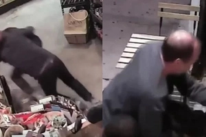 Heroic Store Owner Wrestles An Armed Robber In Incredible Footage