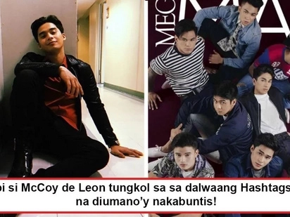 Nagsalita na isa sa kanila! McCoy de Leon reacts to allegations that 2 Hashtags members were removed from group for impregnating partners