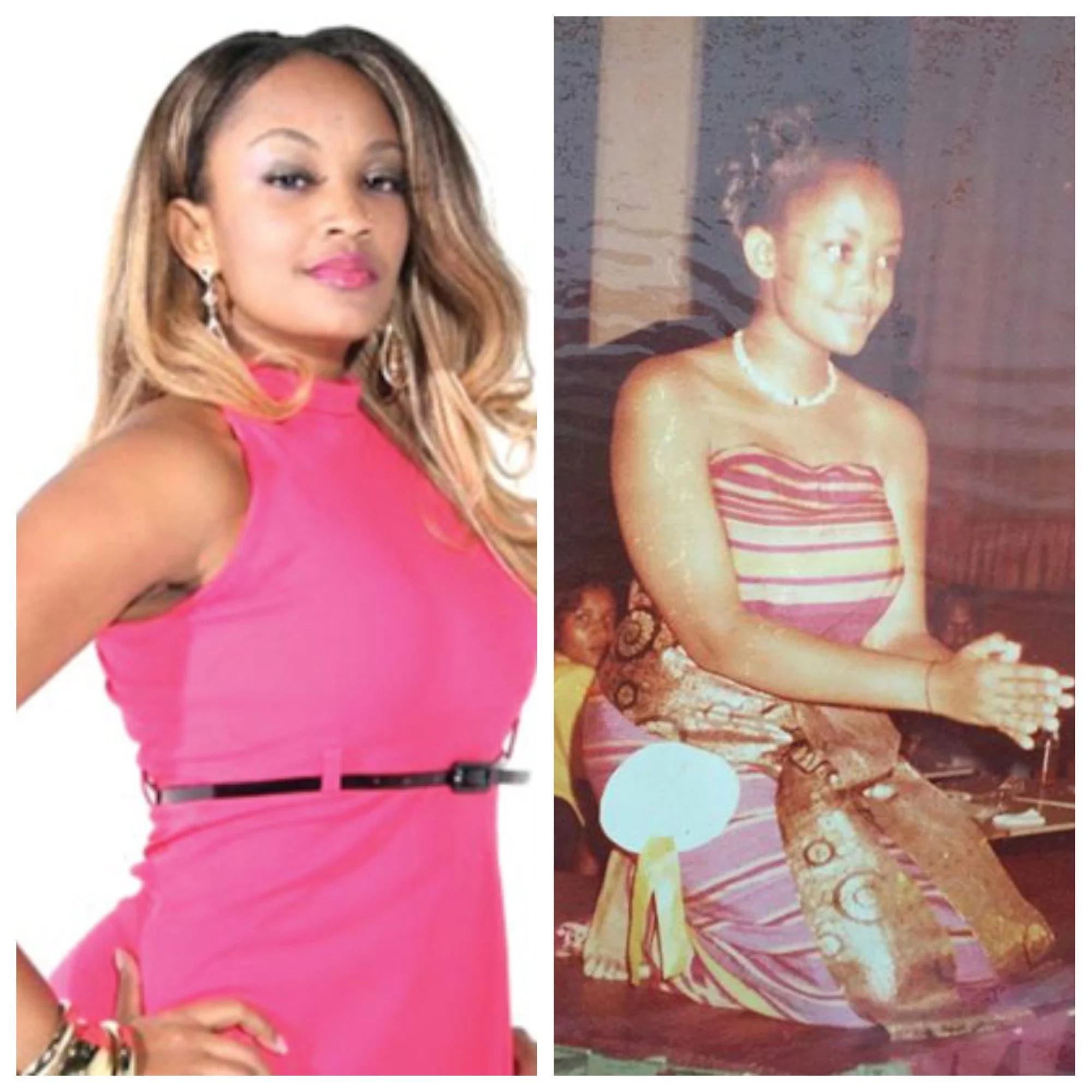 Throwback photos of Diamond's wife before the fame and money