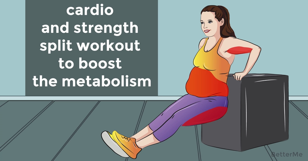 A cardio and strength split workout to boost the metabolism