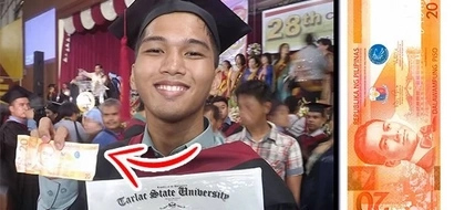 Engineering scholar successfully graduates in college. But what is spectacular is that he spent only P20 everyday for his entire study