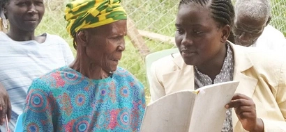 BACK TO SCHOOL: Kogelo's Elderly Learn English So They Can Speak To Obama
