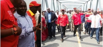 Uhuru launches bridge at crossing where Mbita MP Millie Odhiambo's father died (photos)