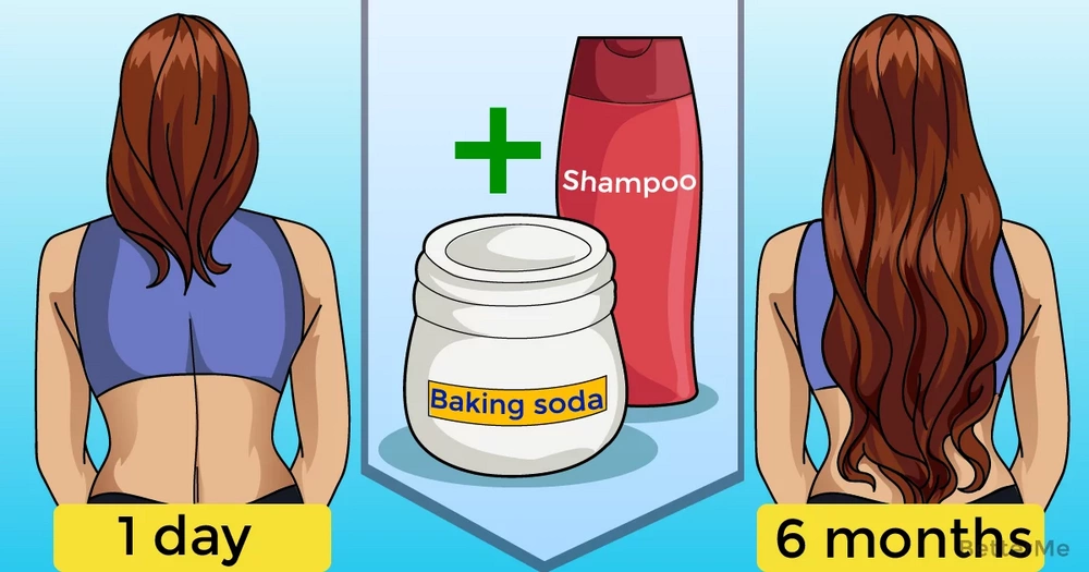 Baking soda shampoo can help you speed hair grow