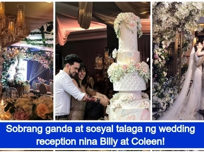 Pinagkagastusan talaga! Video of Billy Crawford and Coleen Garcia's grand wedding reception