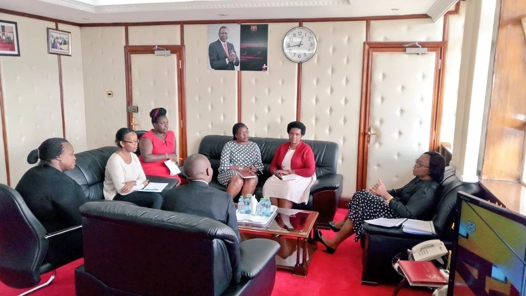 Cabinet Secretary omitted by Uhuru from new list goes back to her office, hits the ground running