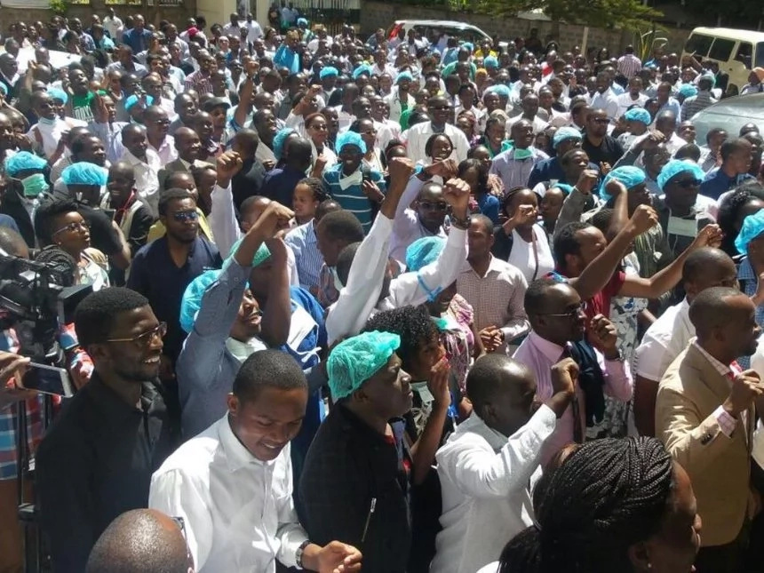 Union officials jailed over doctors' strike in Kenya