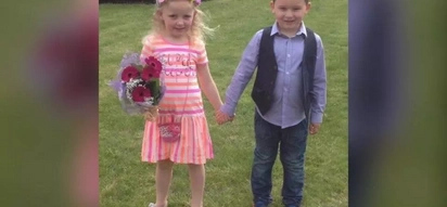 SO CUTE! These two adorable kids go on a romantic date