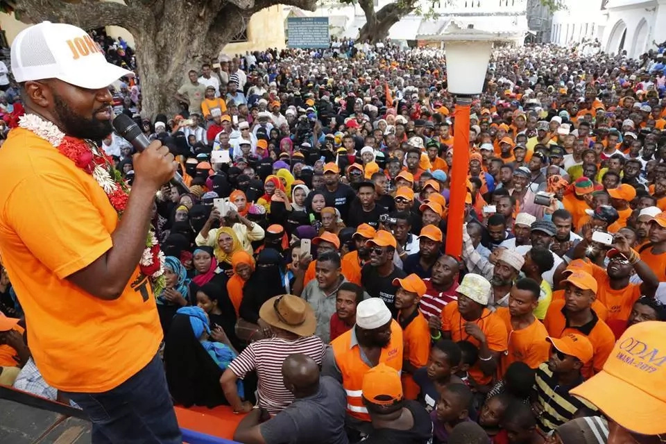 Joho speaks after GSU disrupted his rally