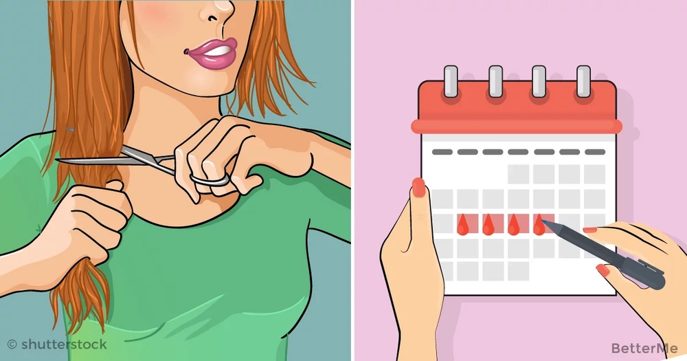 On which day of your period is it better to cut hair?